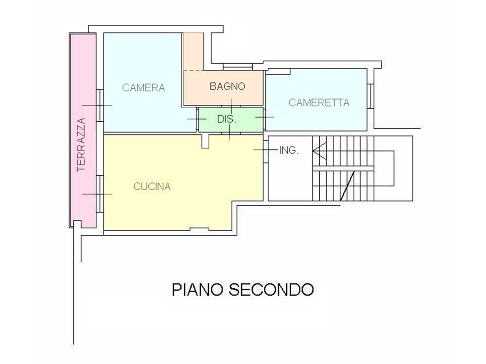Massa vendita marina di massa appartamento codice v019 for Planimetrie dell appartamento del garage di una camera da letto